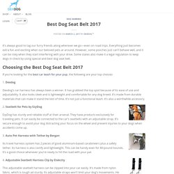 Best Dog Seat Belt 2017