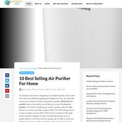 10 Best Selling Air Purifier For Home