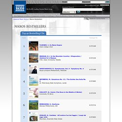 Best Selling albums from Naxos.Com