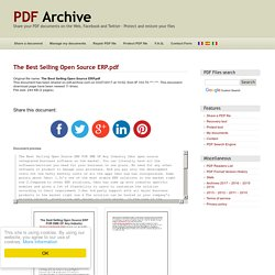 The Best Selling Open Source ERP .pdf - PDF Archive