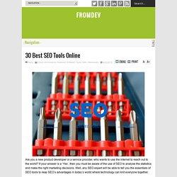 30 Best SEO Tools Online