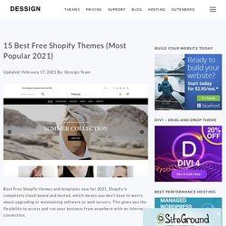 15 Best Free Shopify Themes (Most Popular 2021)