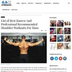 Best Shoulder Workouts For Mass