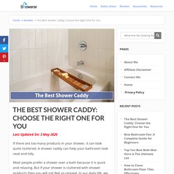 The Best Shower Caddy: Choose the Right One for You