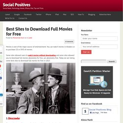 Best Sites to Download Full Movies for Free