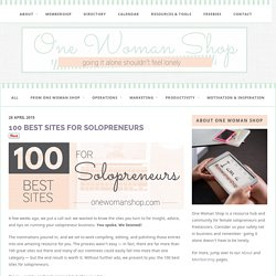100 Best Sites for Solopreneurs