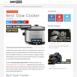 Best Slow Cooker In 2017