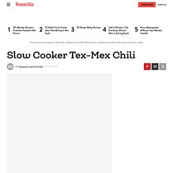 Best Slow Cooker Tex-Mex Chili Recipe - How to Make Slow Cooker Tex-Mex Chili