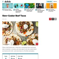 Best Slow-Cooker Beef Tacos Recipe - How to Cook Slow-Cooker Beef Tacos