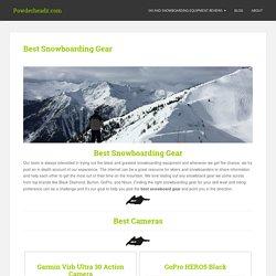 Best Snowboarding Gear for 2016-2017