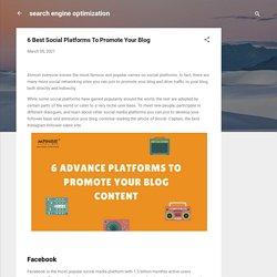 6 Best Social Platforms To Promote Your Blog