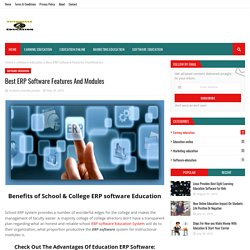 Best ERP Software Features And Modules