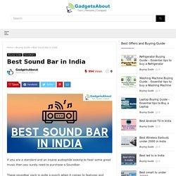 Best Sound Bar in India in 2021