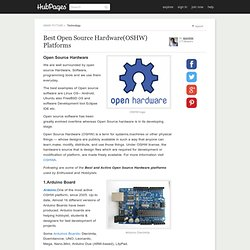 Best Open Source Hardware(OSHW) Platforms