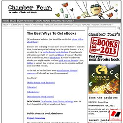 Best Sources for eBooks | Chamber Four