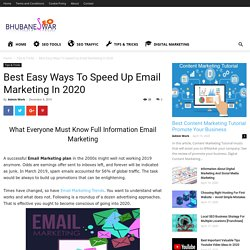 Best Easy Ways To Speed Up Email Marketing In 2020