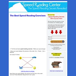 The best speed reading exercises