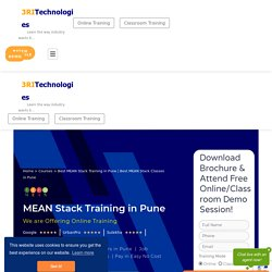 Best MEAN Stack Training in Pune