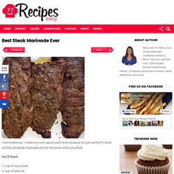 Best Steak Marinade Ever – Easy Recipes