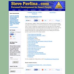 Best of StevePavlina.com