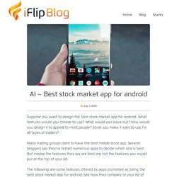 AI - Best stock market app for android
