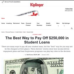 The Best Way to Pay Off $250,000 in Student Loans