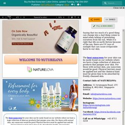 Buy the Best Sunscreen Lotion Online
