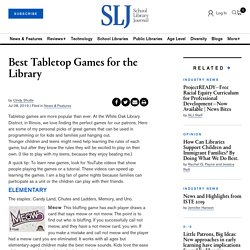 Best Tabletop Games for the Library