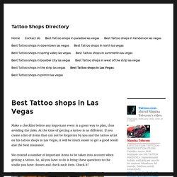 best tattoo artists las vegas