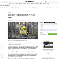 Best Buy tests robot at New York store