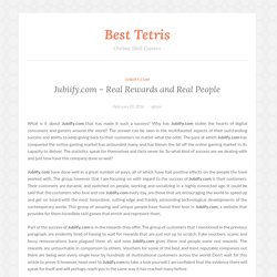 Jubiify.com – Real Rewards and Real People