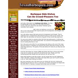 Best Texas Barbeque Side Dishes