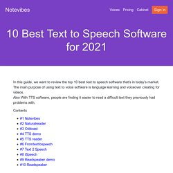 10 Best Text to Speech Software for 2020