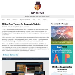 20 Best Free Themes for Corporate Website