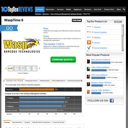 WaspTime 2013 - TopTenREVIEWS