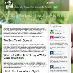 Best Time to Water Your Grass This Summer