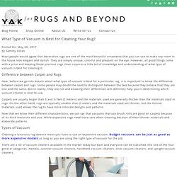 best tips for cleaning rug and carpet at home