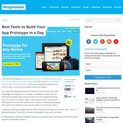Best Tools to Build Your App Prototype in a Day