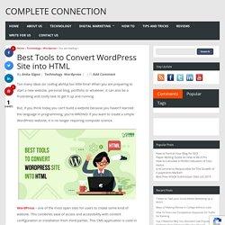 Best Tools to Convert WordPress Site into HTML