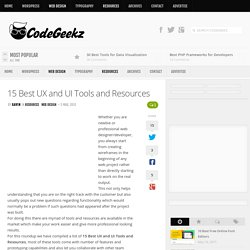 15 Best UX and UI Tools and Resources