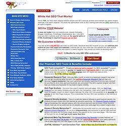 Search Engine Optimization - SEO Tools