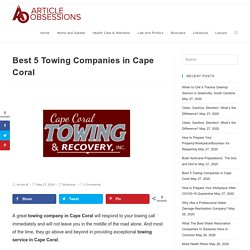 Best 5 Towing Companies in Cape Coral