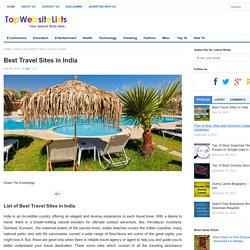 Best travel sites in India