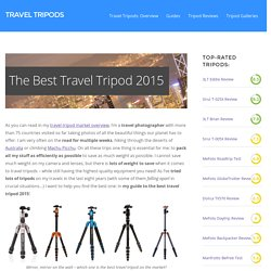 Best Travel Tripod 2015