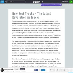 New Best Trucks - The Latest Revolution in Trucks