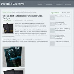 The 10 Best Tutorials for Business Card Design