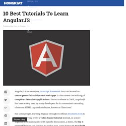 10 Best Tutorials To Learn AngularJS