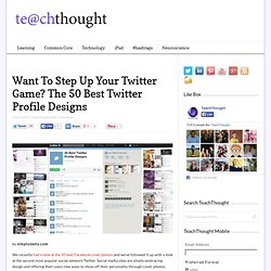 The 50 Best Twitter Profile Designs