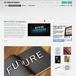 50+ of the best typographic designs of 2012