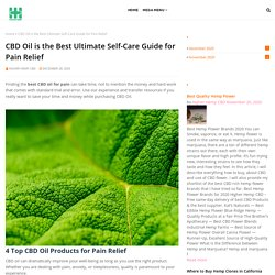 CBD Oil is the Best Ultimate Self-Care Guide for Pain Relief